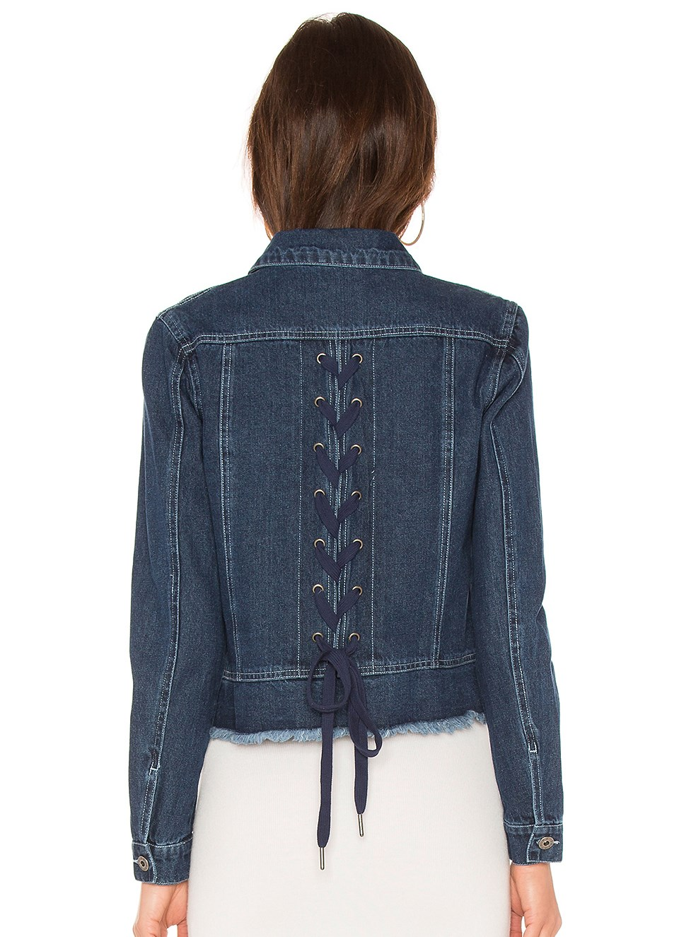 Statement Denim Jackets - Not Your Mother's Denim Jacket! This year's denim trends include distressing, undone hems, lace up details, & embroidery. You are used to seeing them on your jeans, but now the trend has moved on to denim jackets, too!