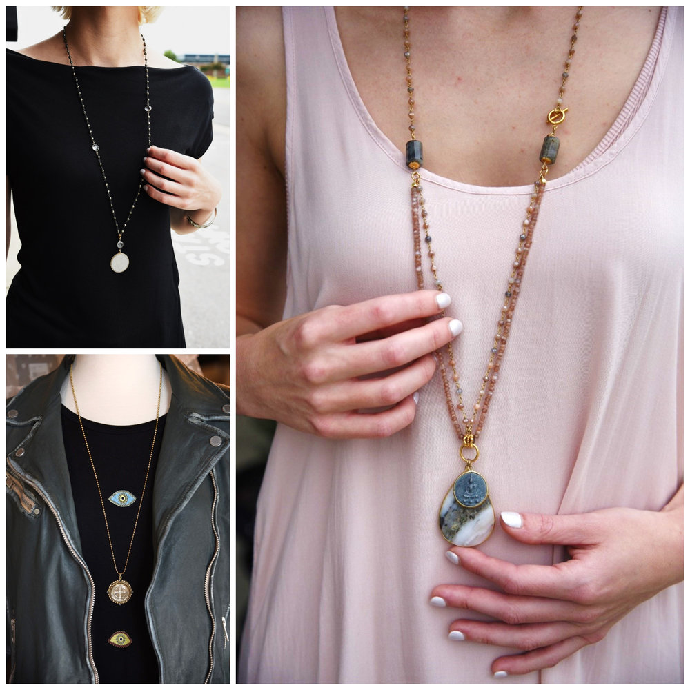 The Minimal Pendant - These necklaces are great at accentuating an already awesome outfit! They are perfect pieces to wear with solid tops and sweaters this fall to create a thoughtful yet effortless look!