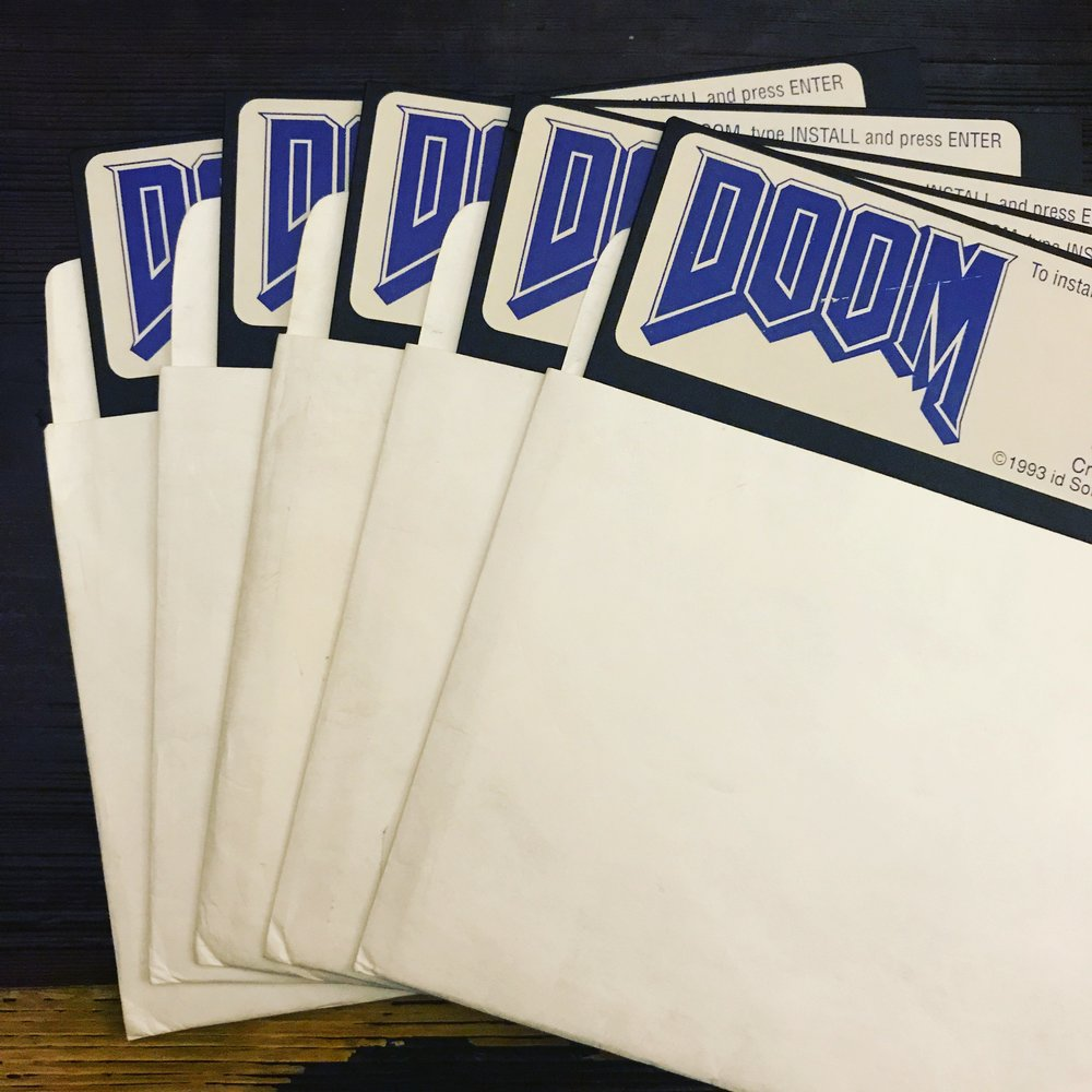 The first verification masters for retail DOOM v1.1 – the first physical version of DOOM.