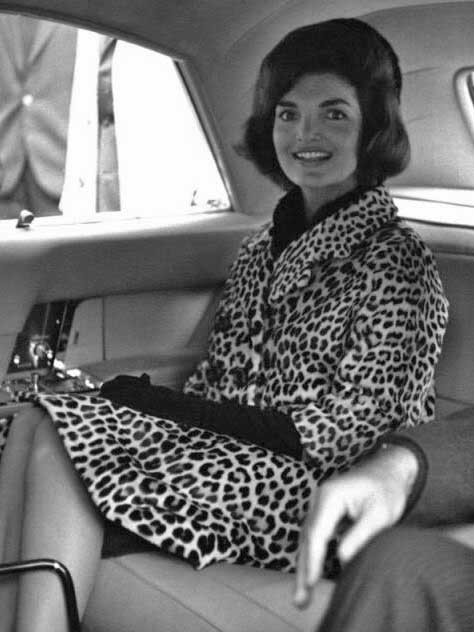 Jackie Kennedy wearing Oleg Cassini coat, 1962