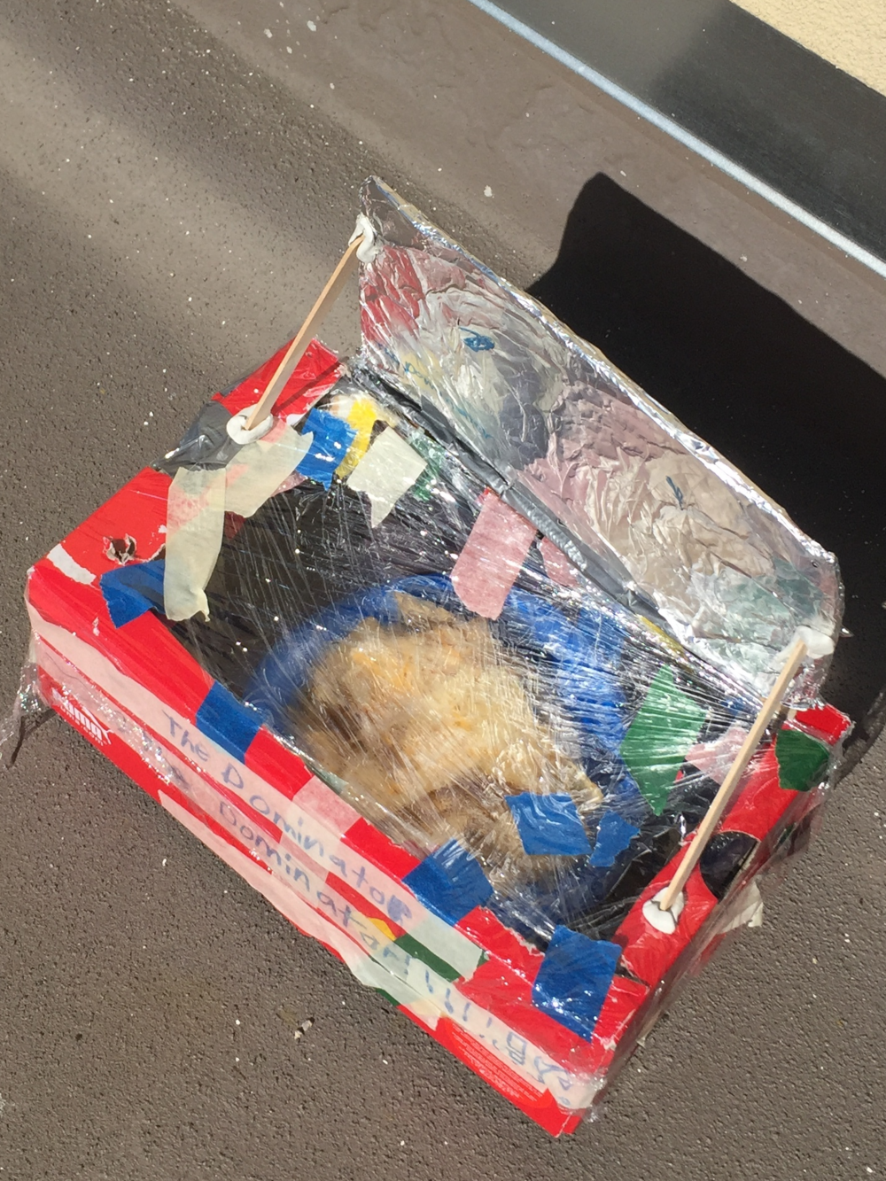 One of our many successful solar oven!