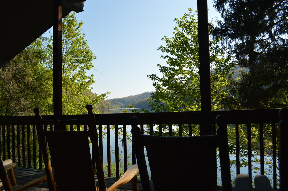 View from one of the Lakeside Cabins