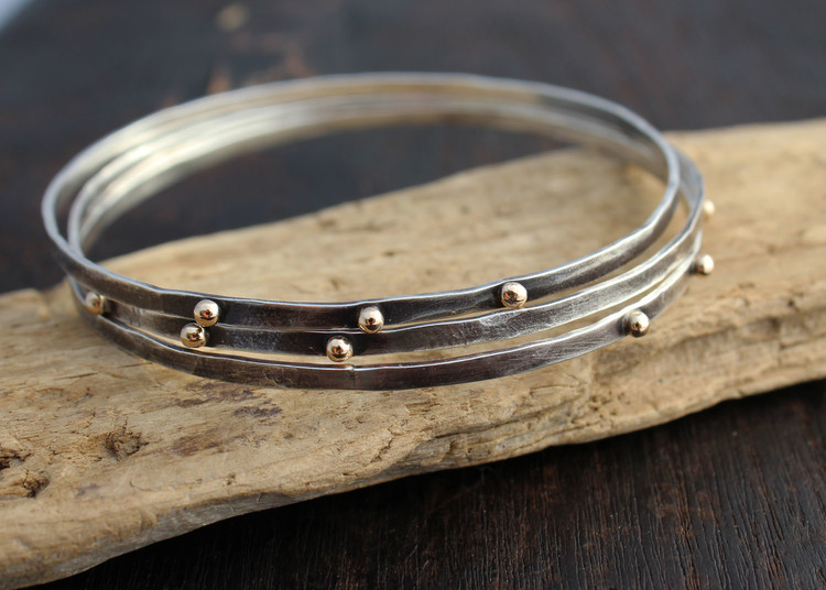 hammeredbangle item asp hammered claire silver jewellery bangle howieson bangles designer