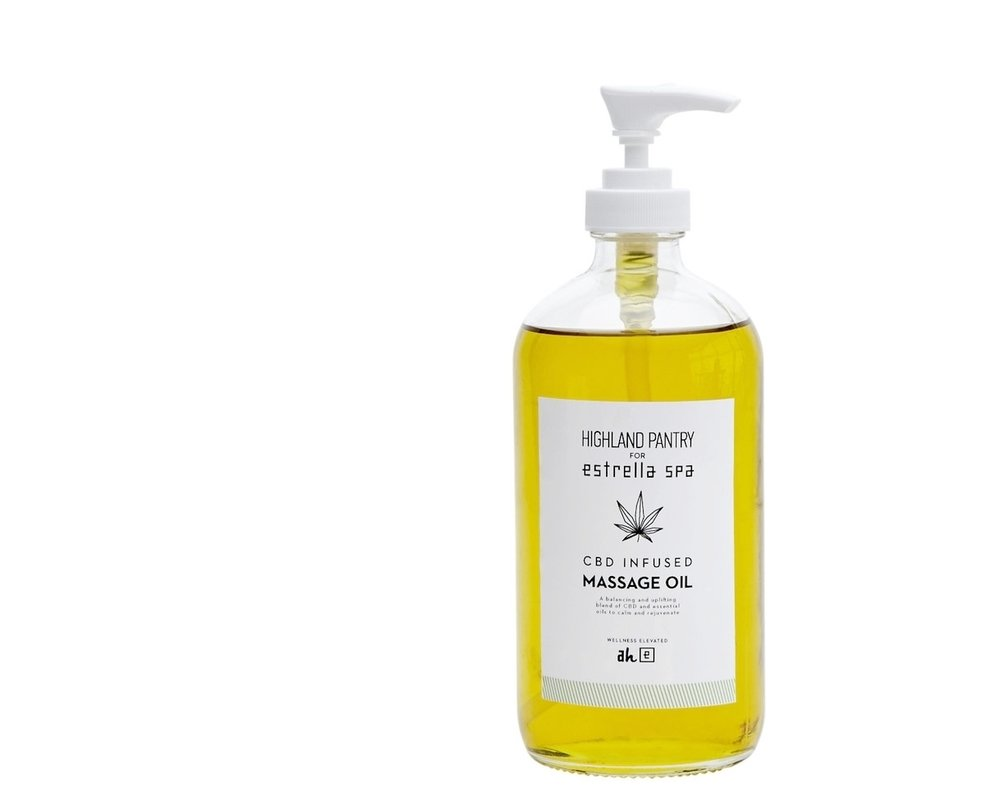 CBD Massage Oil - Our handcrafted CBD infused massage oil is a special blend of organic hemp extract, cold pressed essential oils and vitamins to help balance and heal the skin. Specially designed for Avalon Hotel & Bungalows Palm Springs.