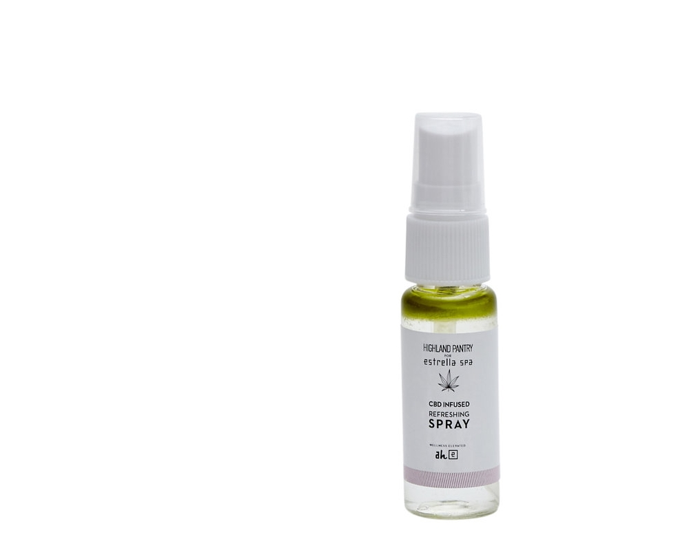 CBD Refreshing Spray - Need a quick pick-me-up? The CBD infused Refreshing Spray is perfect for instant facial gratification. One spray of this botanical blend will leave your face feeling fresh and glowing, and is perfect for a post-service finisher or if you're sitting poolside.