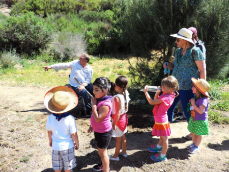 Rainbow Pree Schoolers explore the gardens pathways
