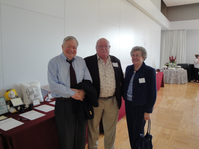 Pictured Above: Secretary and CEFT Director Paul Hlavinka to the left, the Eldest Son of William J. Hlavinka. Also pictured, Robert and Evelyn Rosenbaum.
