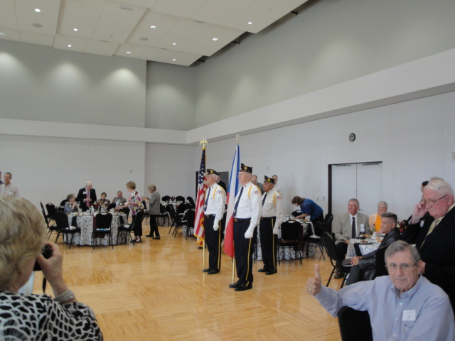 Posting of the Colors by the American Legion Honor Guard