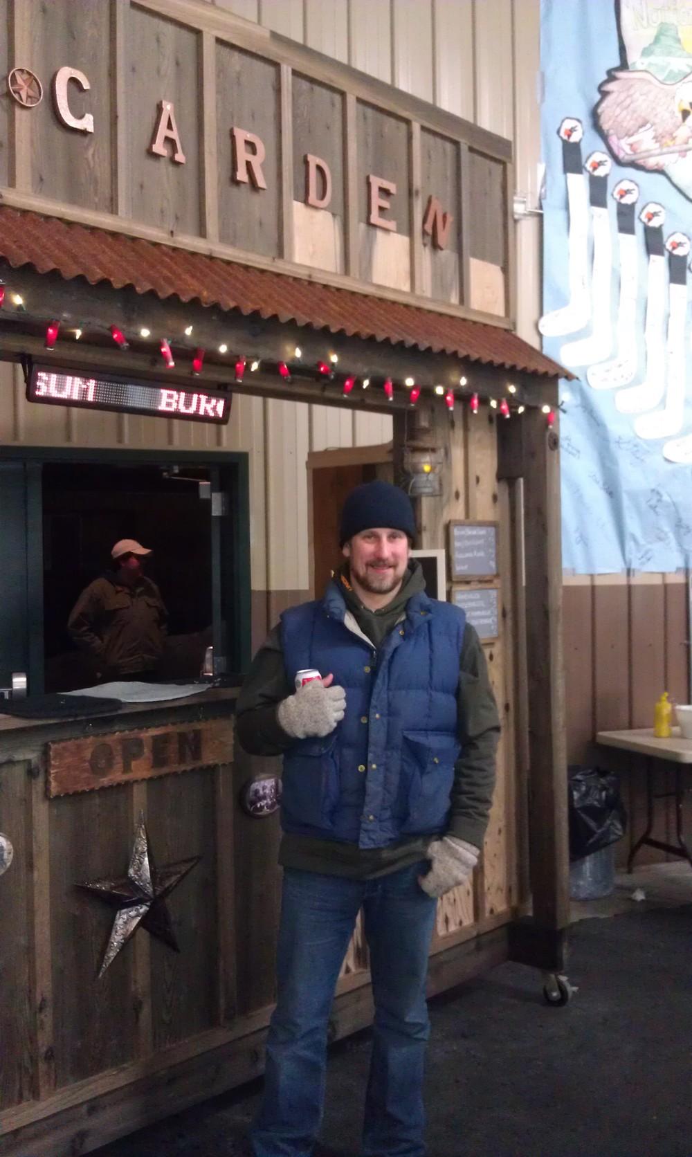 Stumptown Ice Den Beer Garden &it's builder,James, owner of FHR