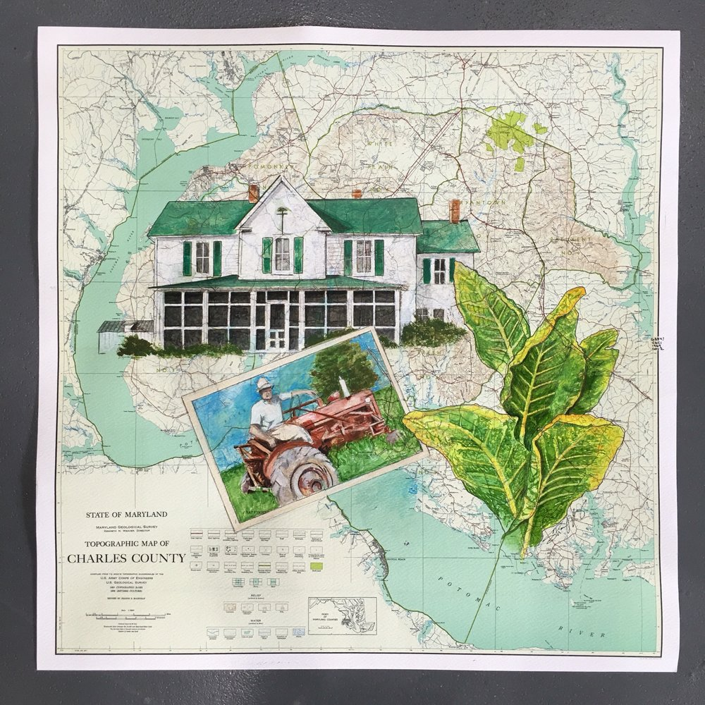 FAMILY HOME AND PHOTOS W/ TOBACCO LEAVES ON CHARLES COUNTY MD