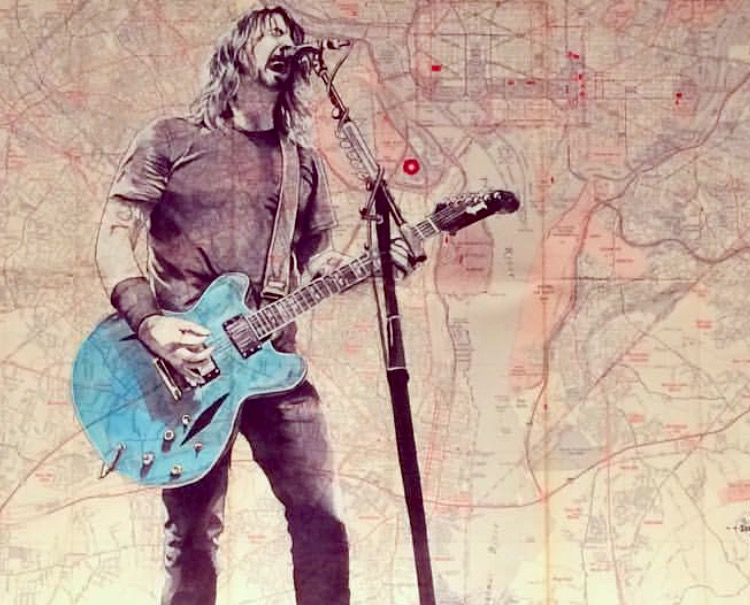 DAVE GROHL ON VINTAGE DC /VA MAP