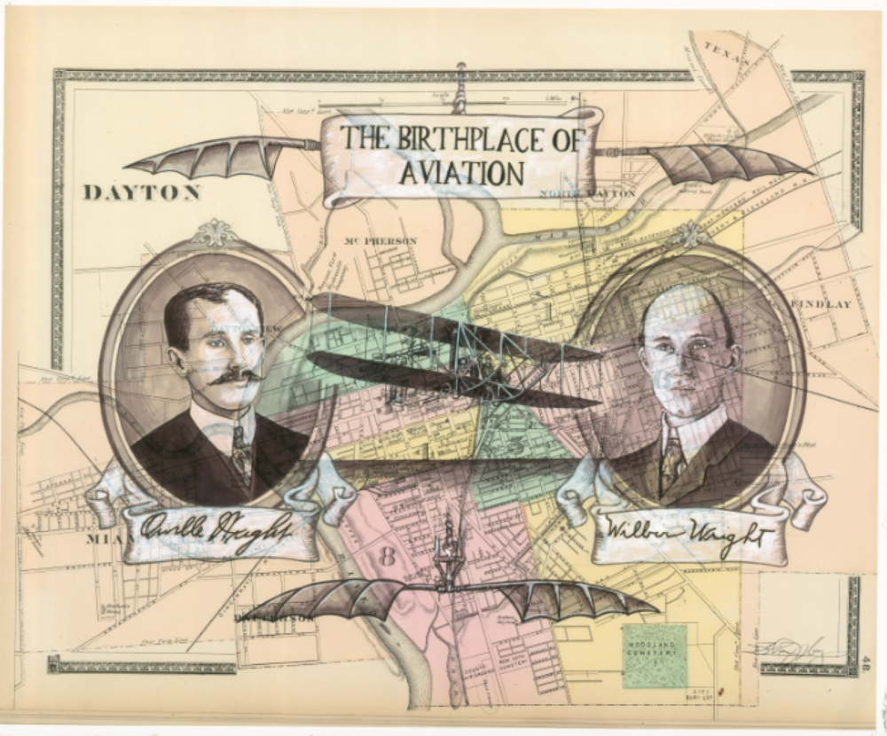 WRIGHT BROTHERS ON DAYTON OH MAP