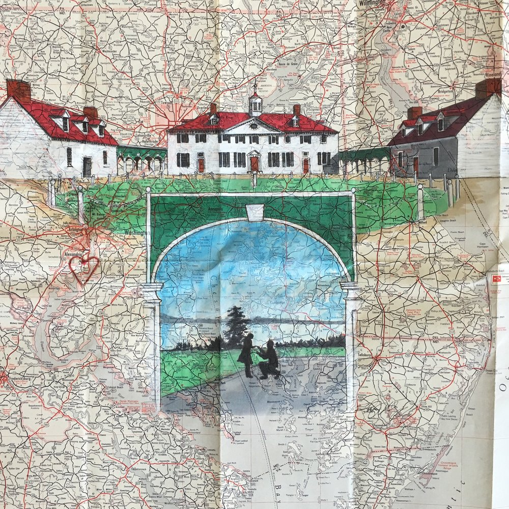ENGAGMENT PHOTO/MOUNT VERNON ON VA MAP