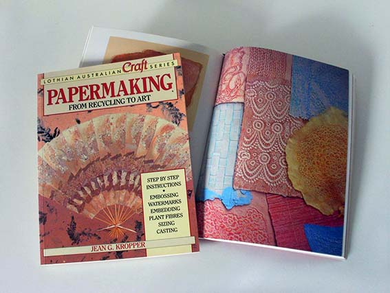 Book: Papermaking from Recycling to Art by Jean Kropper 1992