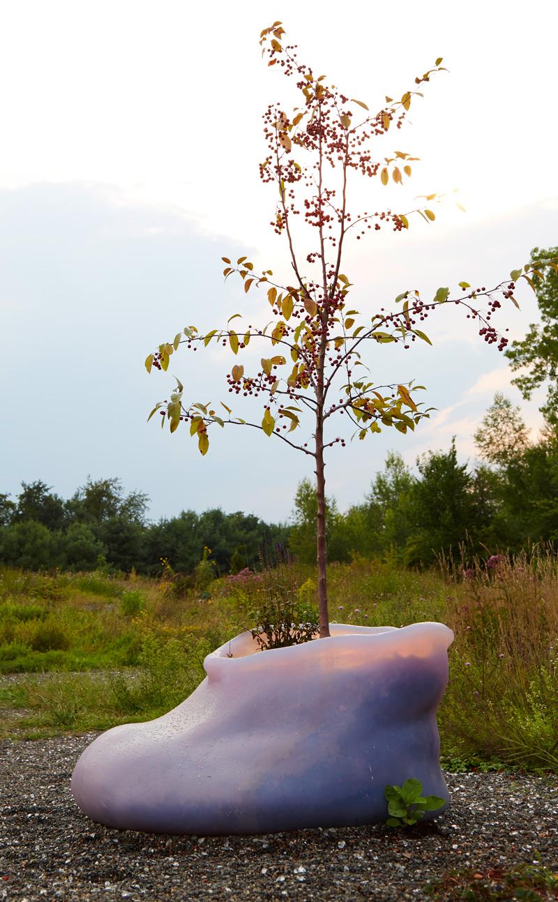 Cherry Blossom,  Large Eccentric Silicone Planter