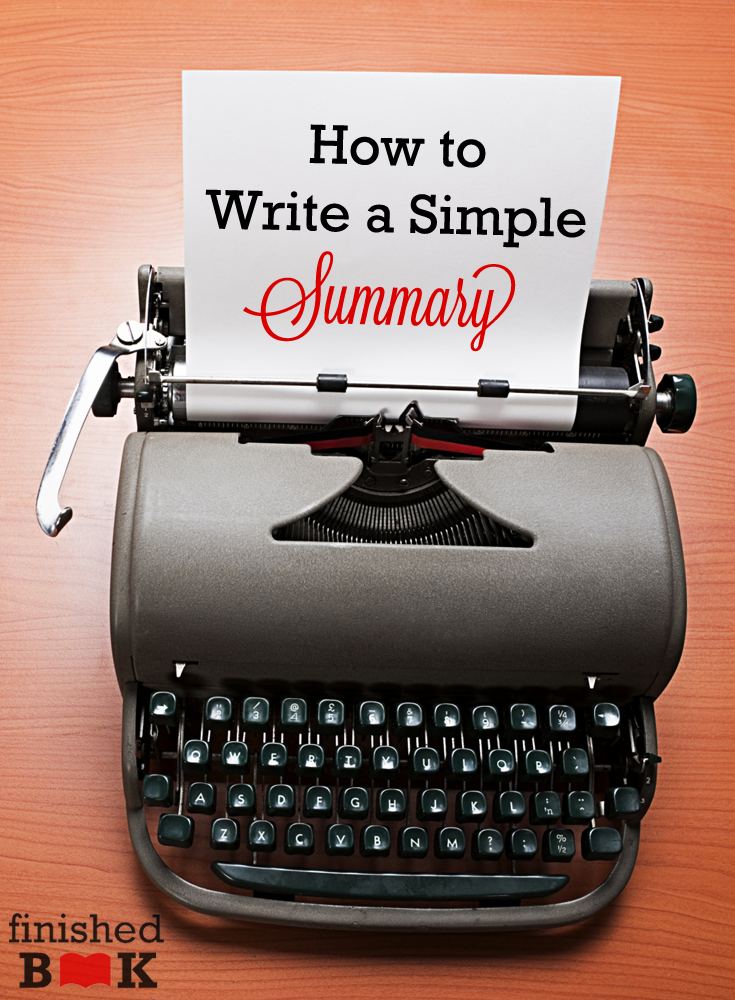 You're almost finished with your book. Now it's time to start the summary! Find out how you can write it.