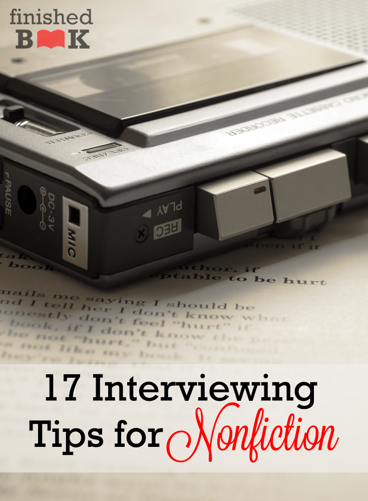 Throughout the years I've learned how to create a better interview—one that will make the subject comfortable and help me as a writer. Here are my tips!