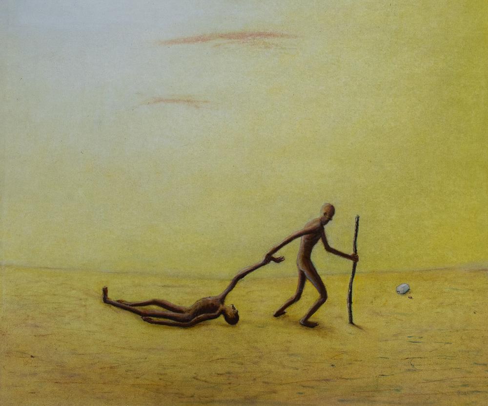 Pareja en el desierto