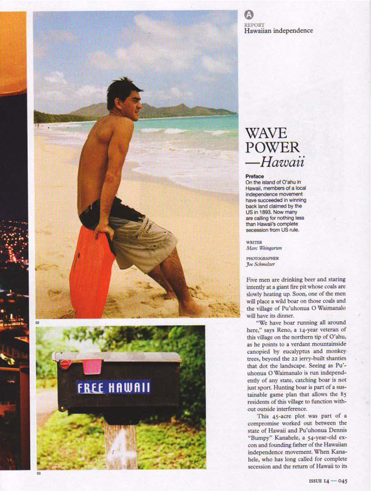 Client: Monocle Photographer: Joe Schmelzer Location: Oahu