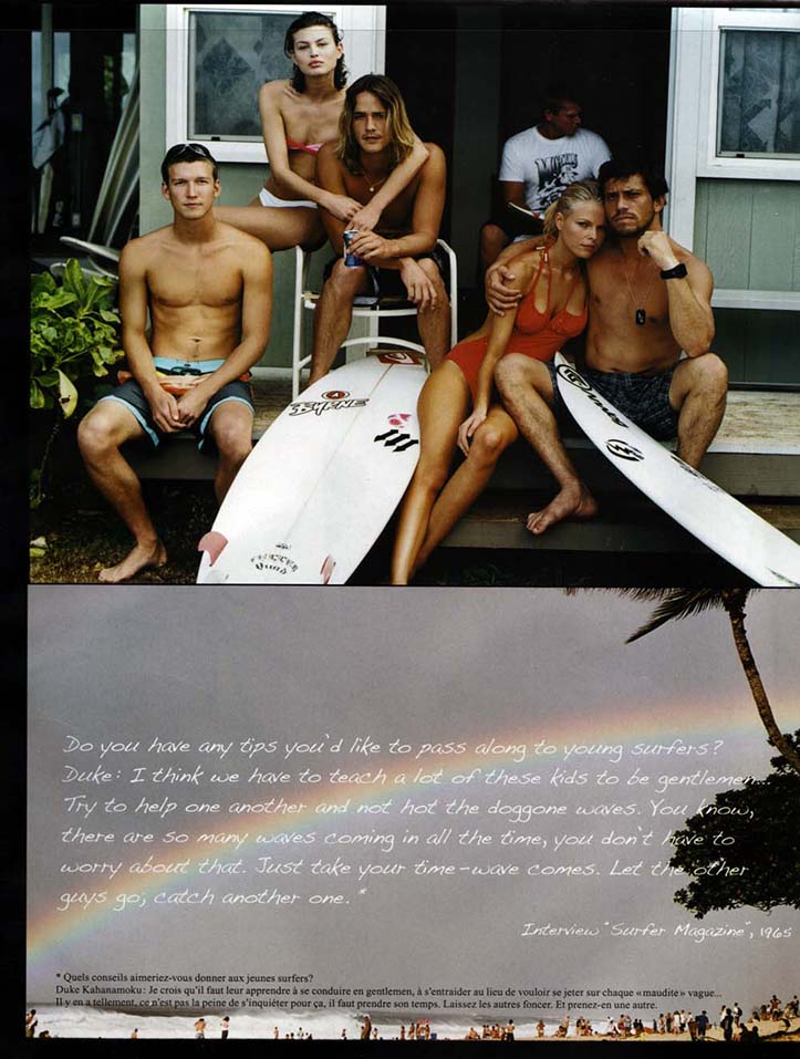 Client: VOGUE Homme, Sport & Style Photographer: Michael Halsband Location: Quicksilver House, North SHore