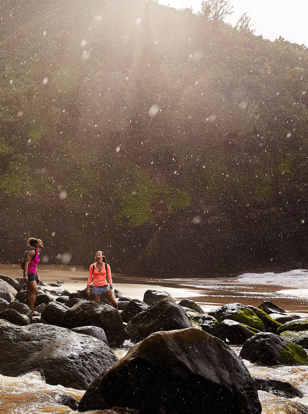 Client: Athleta Photographer: James Macari Location: Kalalau Trail, Kauai
