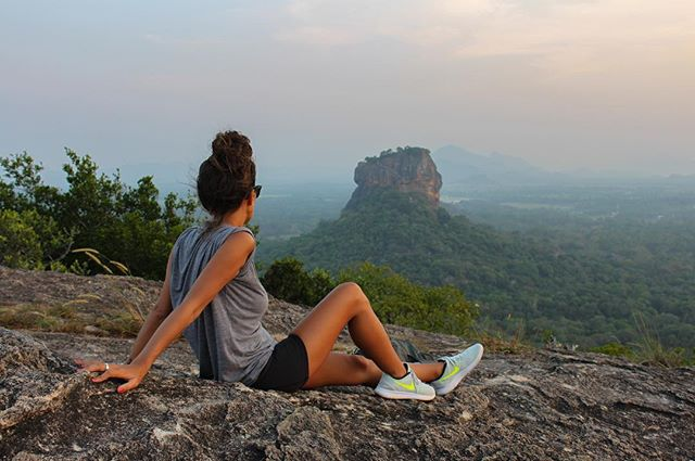 Hiked up Pidurangala Rock for an epic sunset and view of Sigiriya 🌄