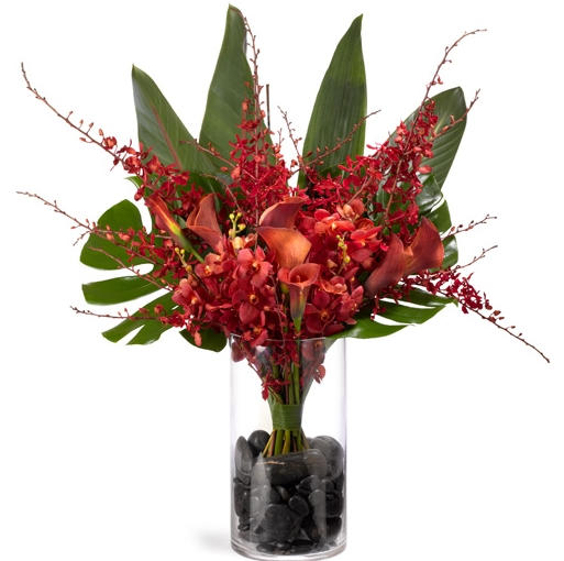 Include flowers that vary in height