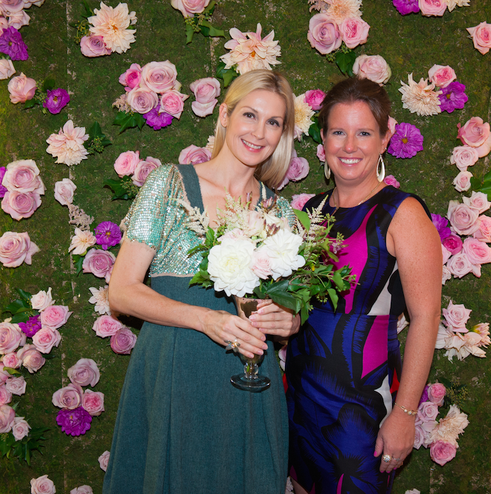 Kelly Rutherford with owner, Bronwen Smith
