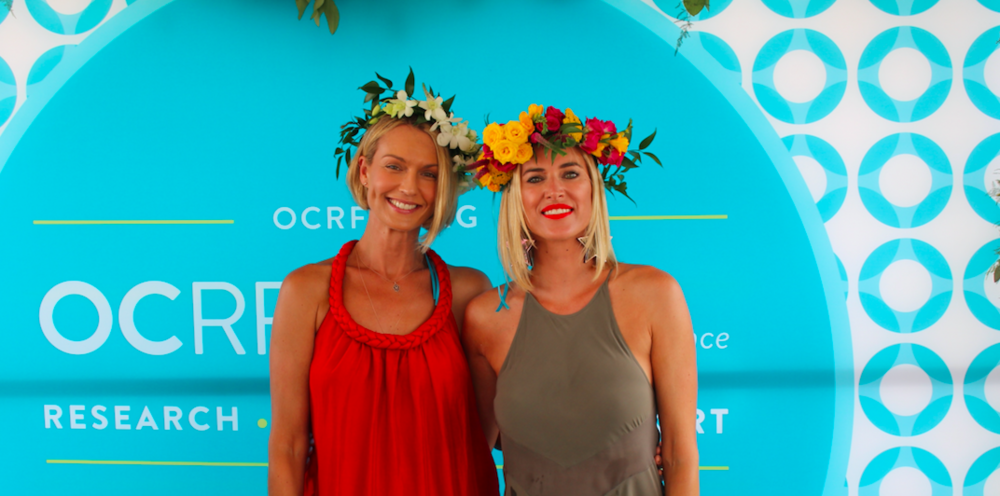 Kristen Taekman wearing B Floral flower crown