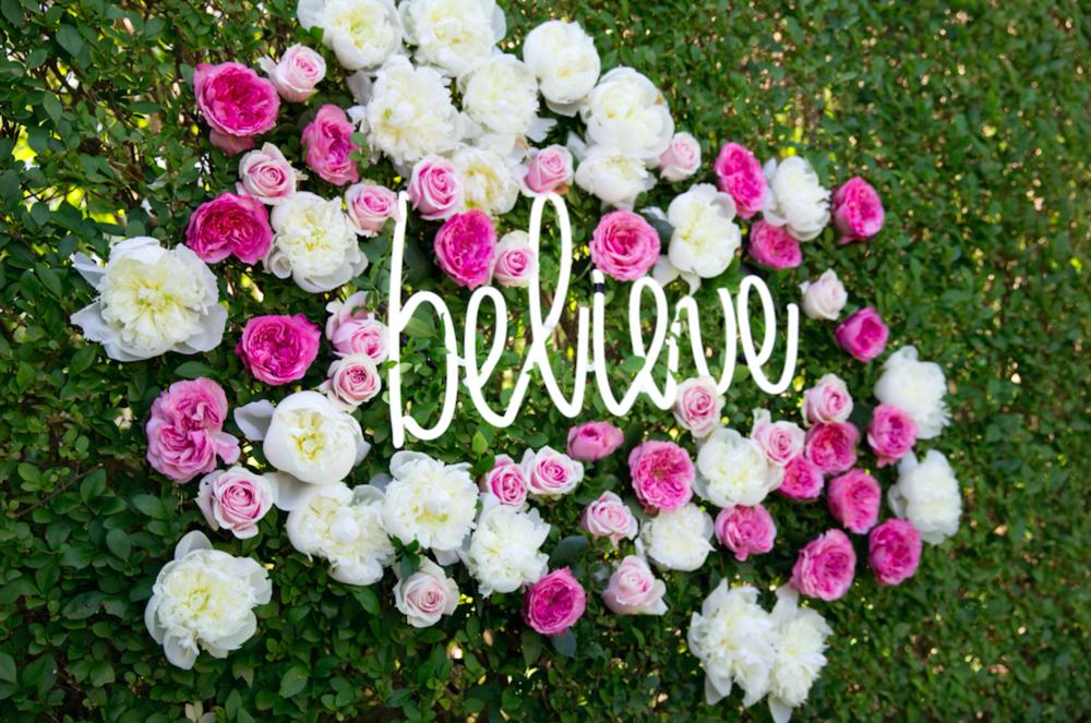 Believe Flower Wall - B Floral