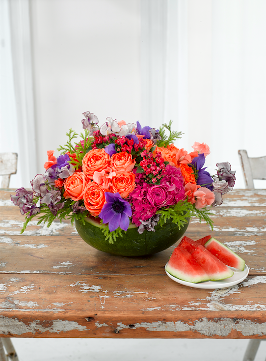 Flowers With Watermelon - B Floral