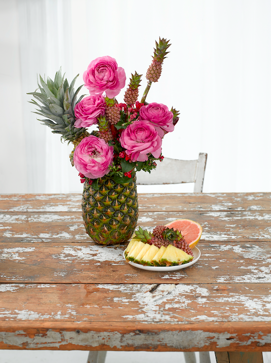 Flowers With Pineapple - B Floral