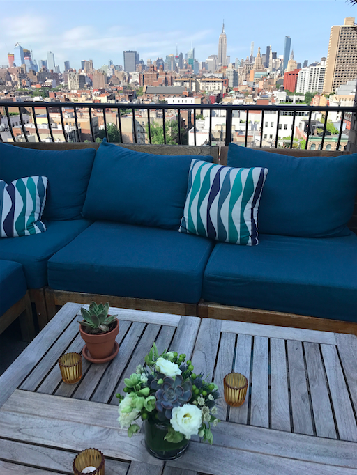 Rooftop Lounge Decor - B Floral