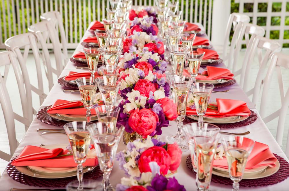 Vibrant Tablescape - B Floral