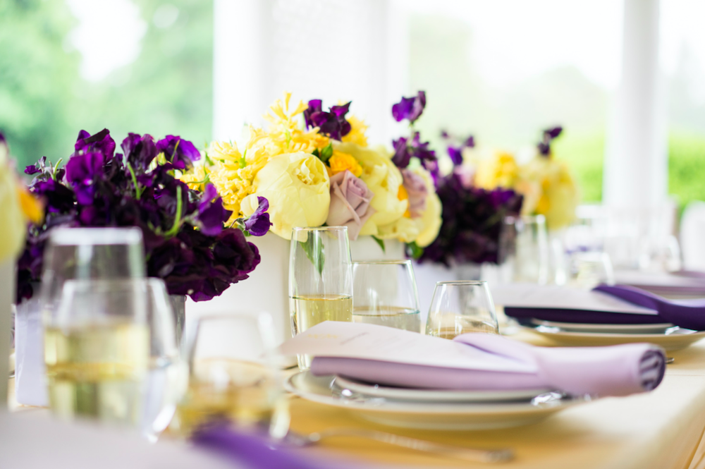 Yellow And Purple Table Flowers - B Floral