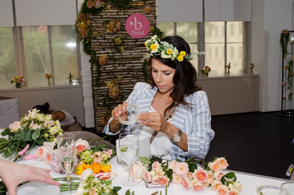 Women With Flower Crown - B Floral