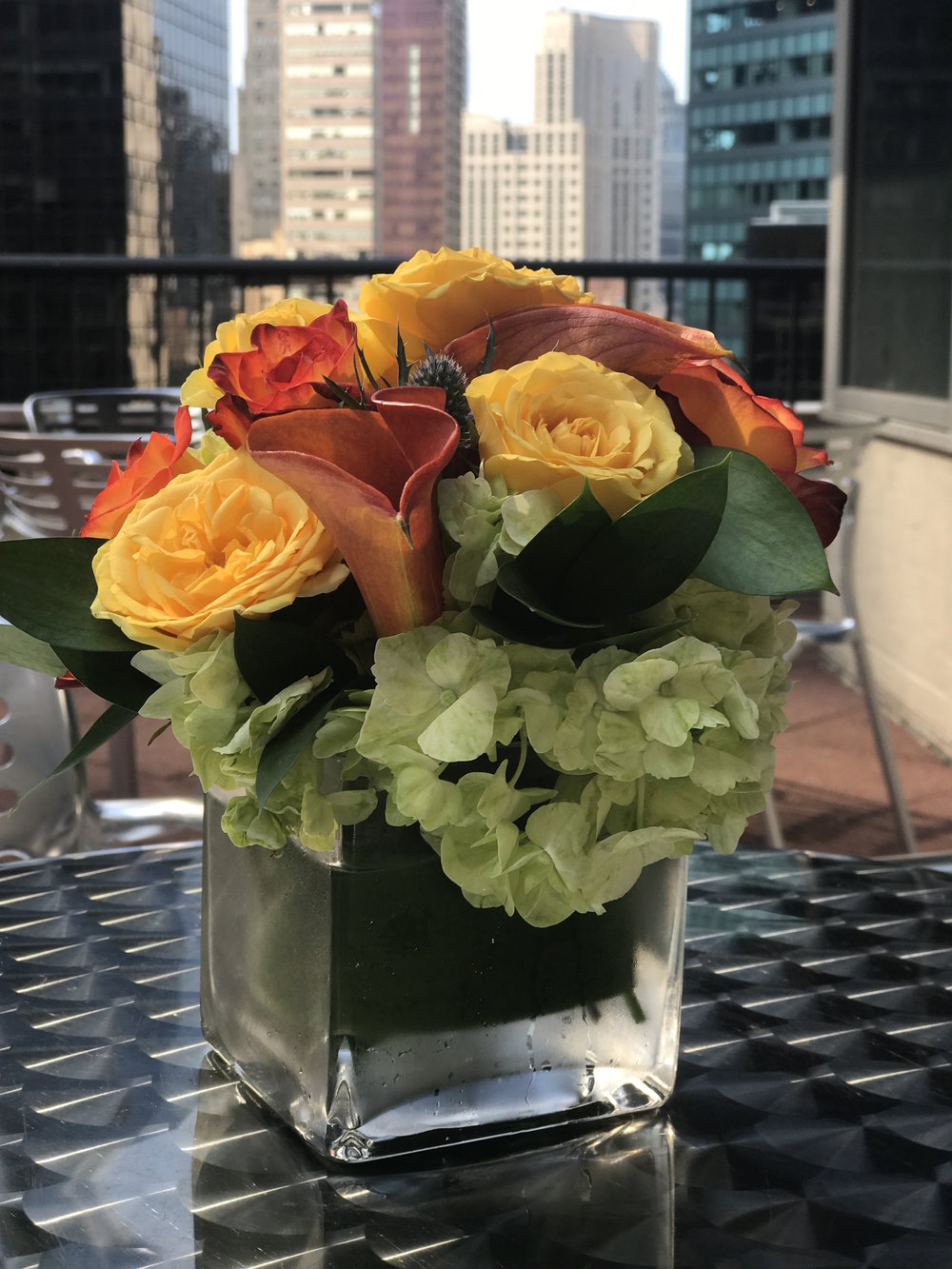 Orange And Yellow Cocktail Arrangement - B Floral