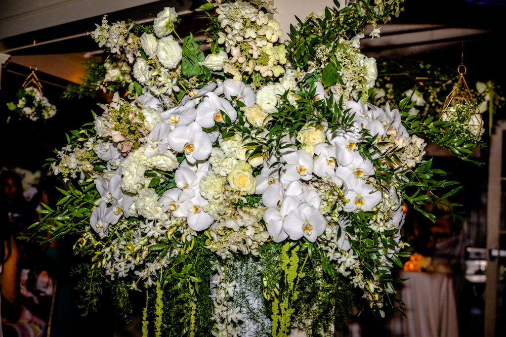 White And Green Floral Display - B Floral