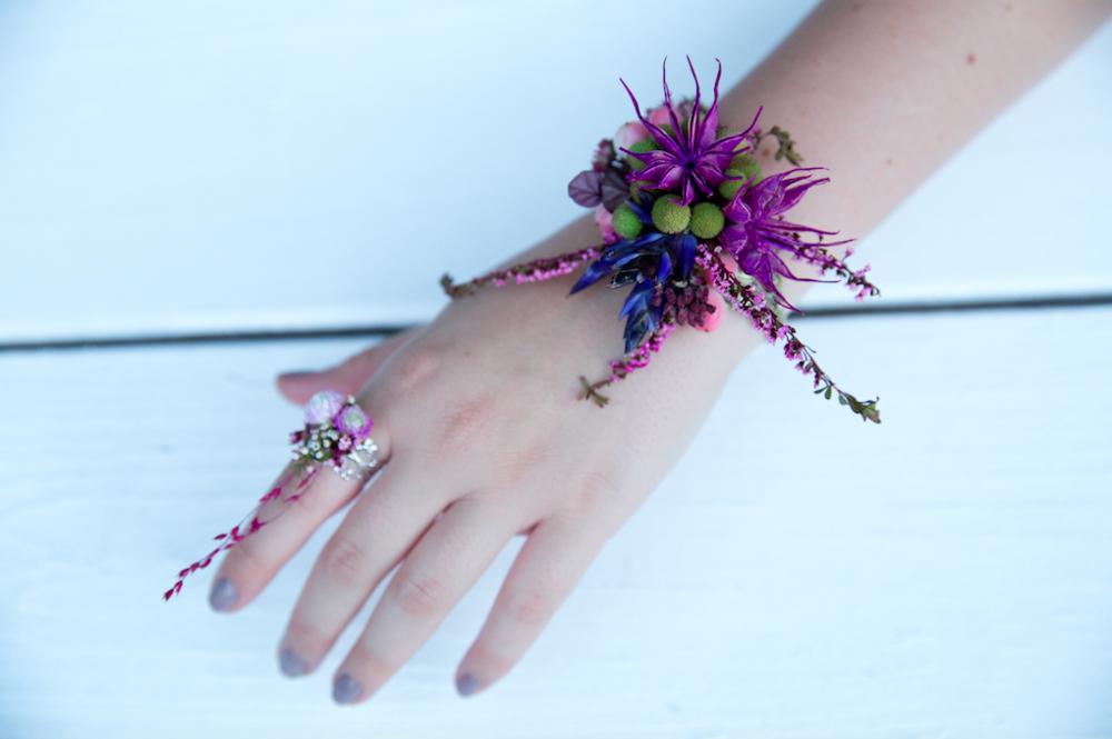 Purple Floral Bracelet - B Floral