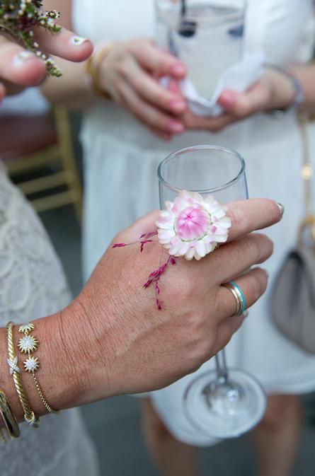 Pink Flower Ring - B Floral