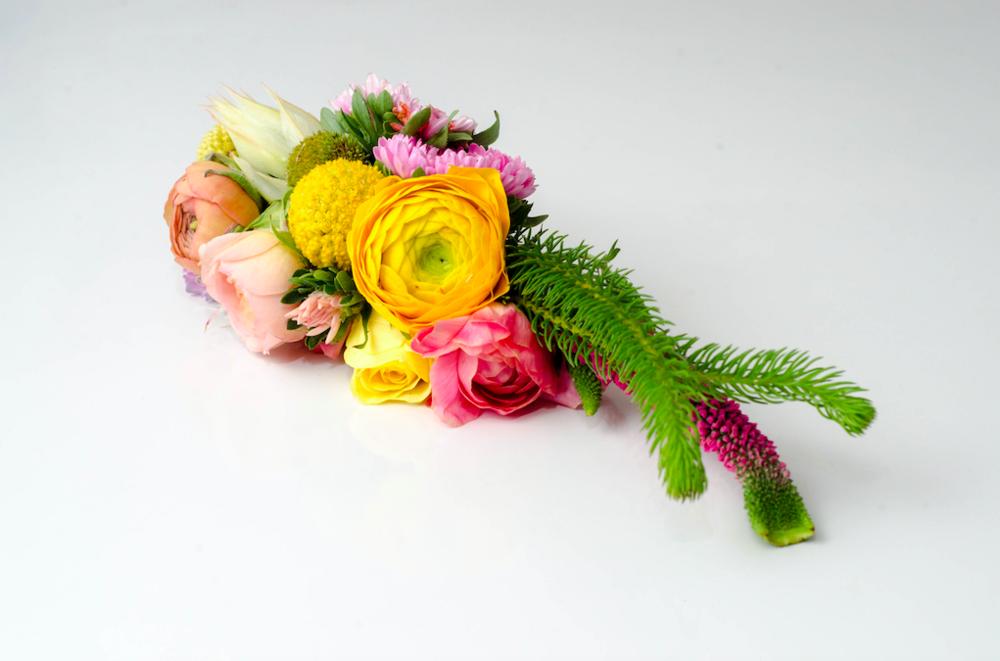 Vibrant Flower Barrette - B Floral