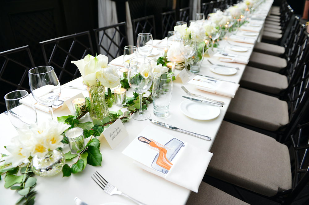 White Floral Dinner Party - B Floral