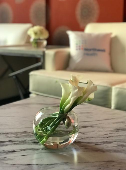 Circular Vase White Floral - B Floral