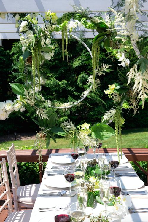 Hanging Floral Hoops - B Floral