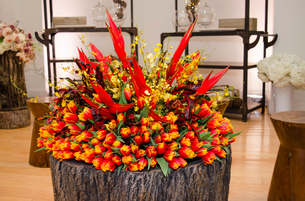 Floral Fire Pit Display - B Floral
