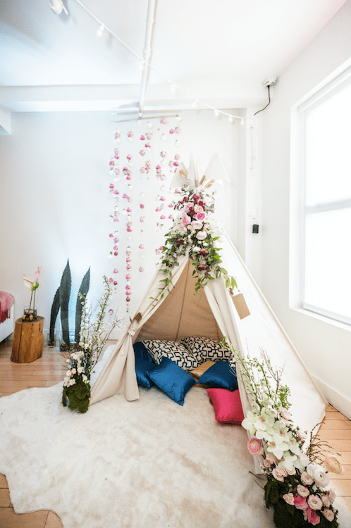 Coachella-Themed Floral Teepee- B Floral