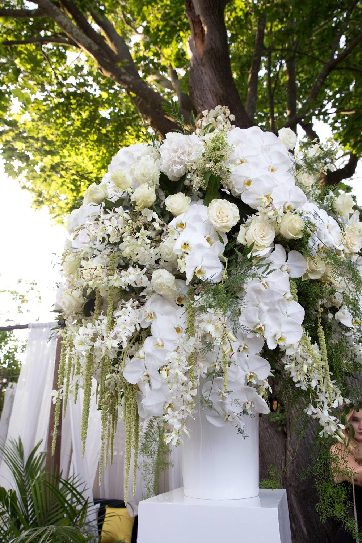 White Summer Statement Piece- B Floral