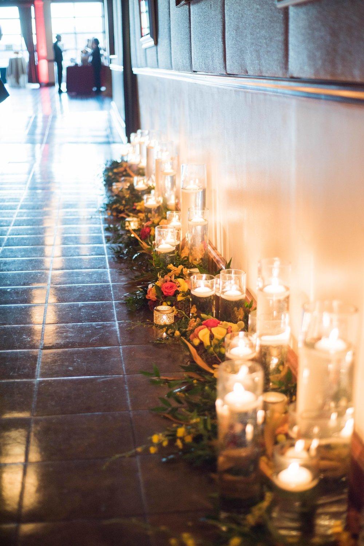 Greenery & Candle Entranceway- B Floral