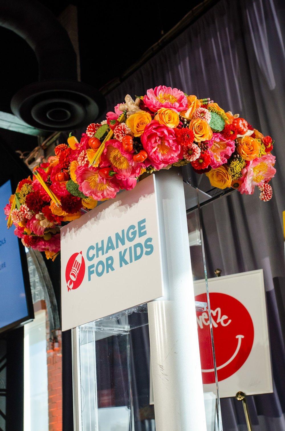 Change for Kids Podium- B Floral