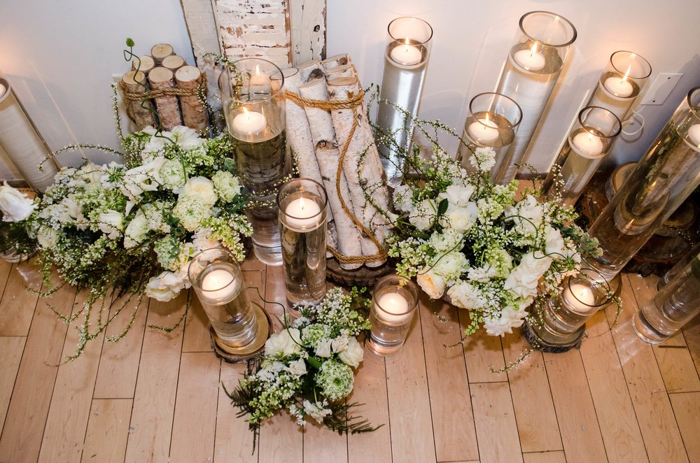 Winter Florals & Candle Light- B Floral